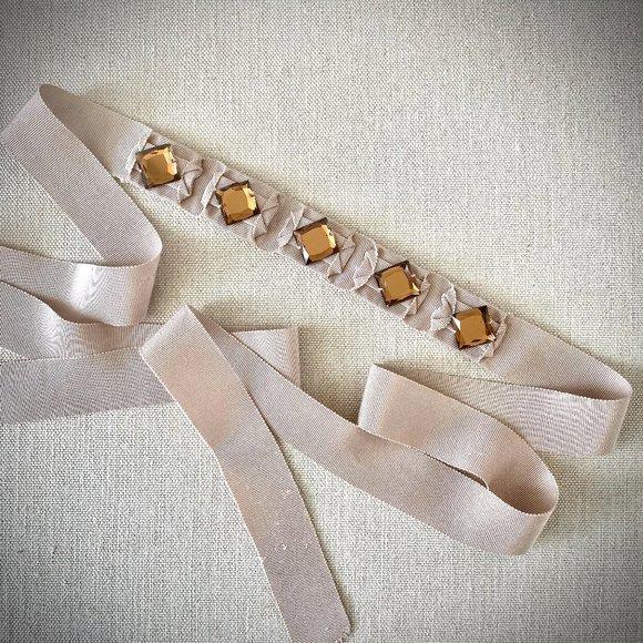 🌟2/$30🌟 J.Crew Embellished Ribbon Sash